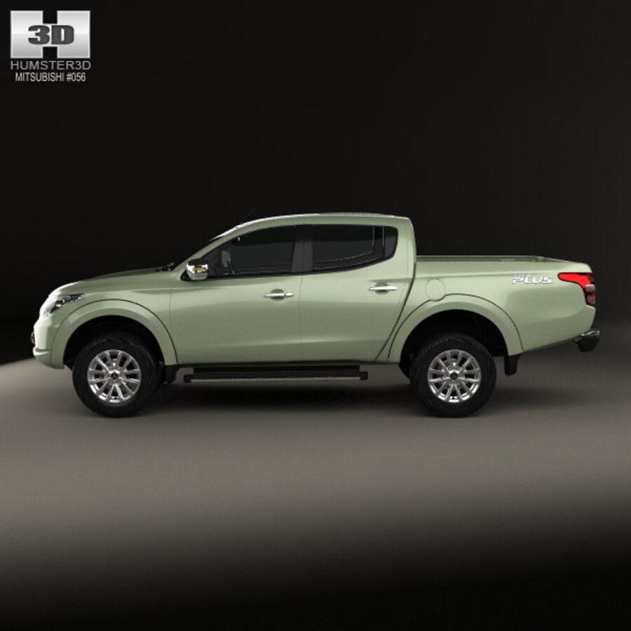 Mitsubishi L200 Triton Double Cab 2015 royalty-free 3d model - Preview no. 5