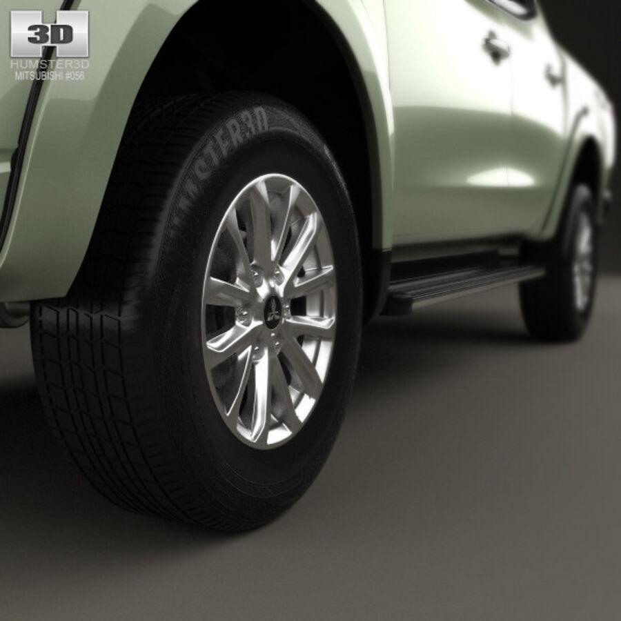 Mitsubishi L200 Triton Double Cab 2015 royalty-free 3d model - Preview no. 8