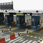 NYC Toll Plaza 3d model