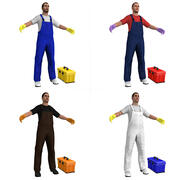 Janitors PACK 3d model
