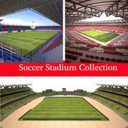 Soccer Stadium Collection 3d model