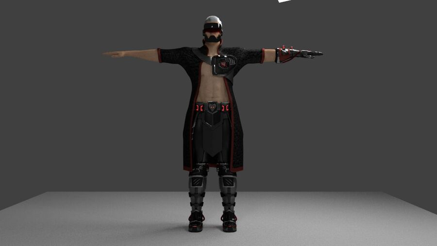 Lord Murder royalty-free 3d model - Preview no. 1
