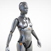 Женский робот-киборг 3d model