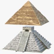 金字塔集合 3d model