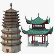 Pagode Chinês 3d model