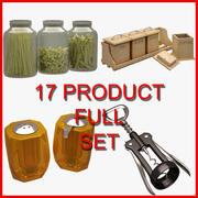 Kitchen Accessorie Set (17 Product) 3d model