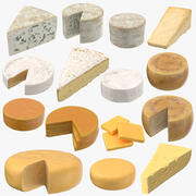 Cheeses Collection 3d model