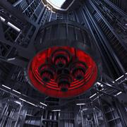 Sci-Fi-schacht 3d model