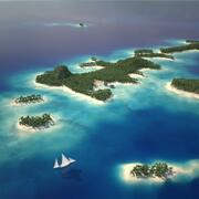 Islas tropicales modelo 3d