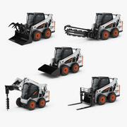Bobcat S590 kompakt hjullastare och redskap 3d model