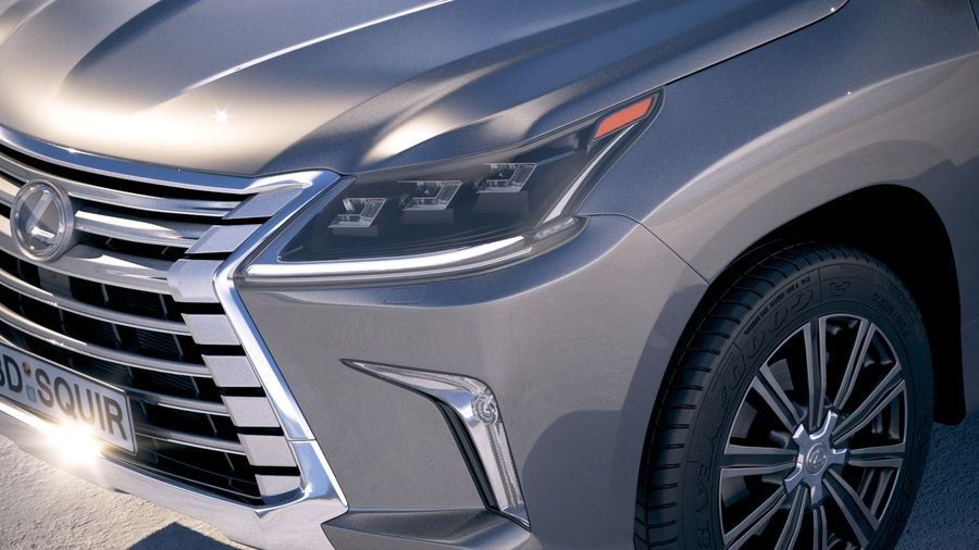 Lexus LX 570 2017 royalty-free 3d model - Preview no. 3