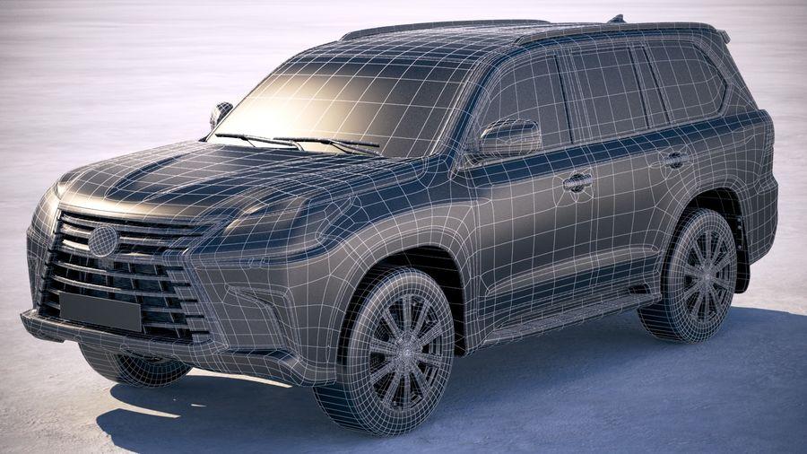 Lexus LX 570 2017 royalty-free 3d model - Preview no. 20
