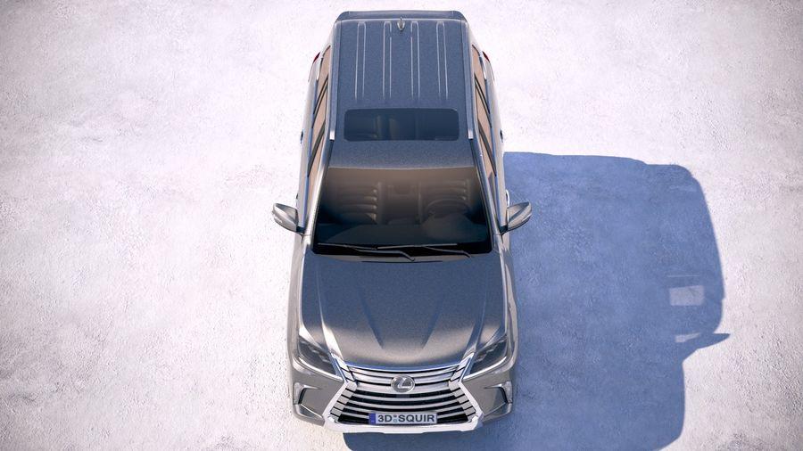 Lexus LX 570 2017 royalty-free 3d model - Preview no. 9