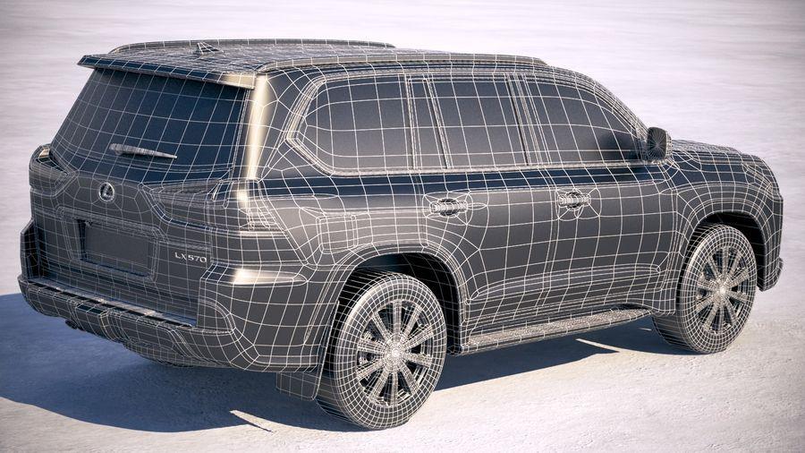 Lexus LX 570 2017 royalty-free 3d model - Preview no. 21