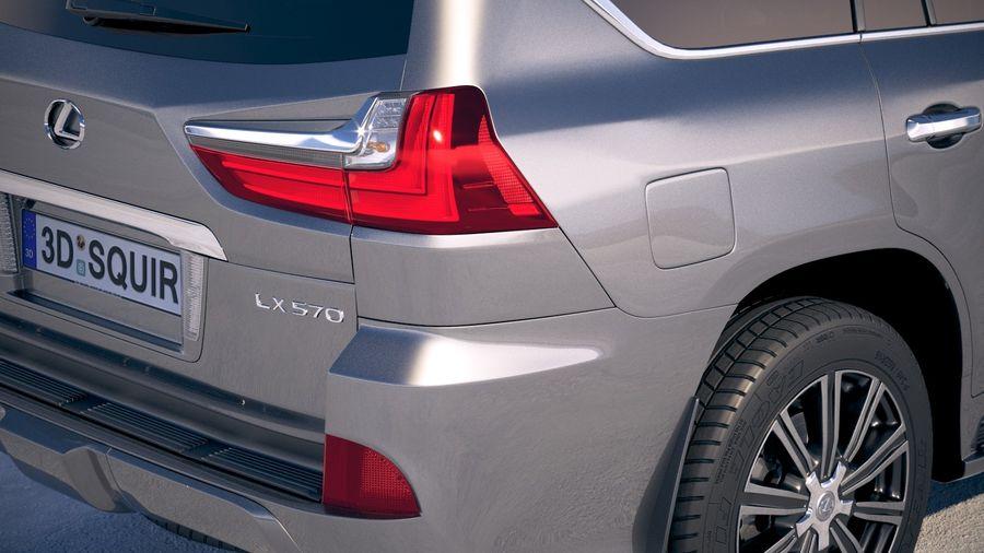 Lexus LX 570 2017 royalty-free 3d model - Preview no. 4