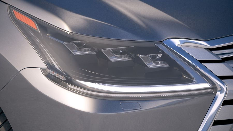 Lexus LX 570 2017 royalty-free 3d model - Preview no. 16