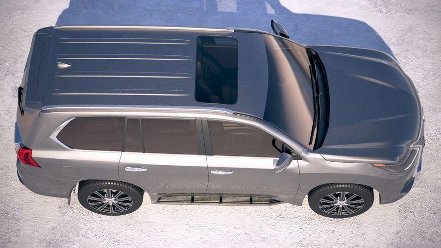 Lexus LX 570 2017 royalty-free 3d model - Preview no. 8