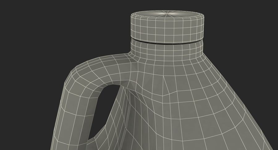 Plastic Jug With Lid Gallon royalty-free 3d model - Preview no. 19