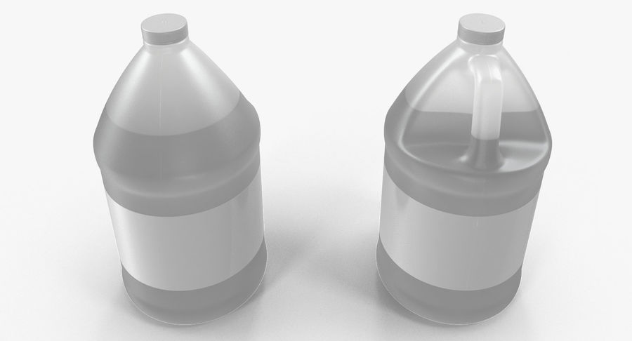 Plastic Jug With Lid Gallon royalty-free 3d model - Preview no. 6