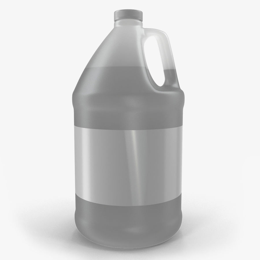 Plastic Jug With Lid Gallon royalty-free 3d model - Preview no. 1