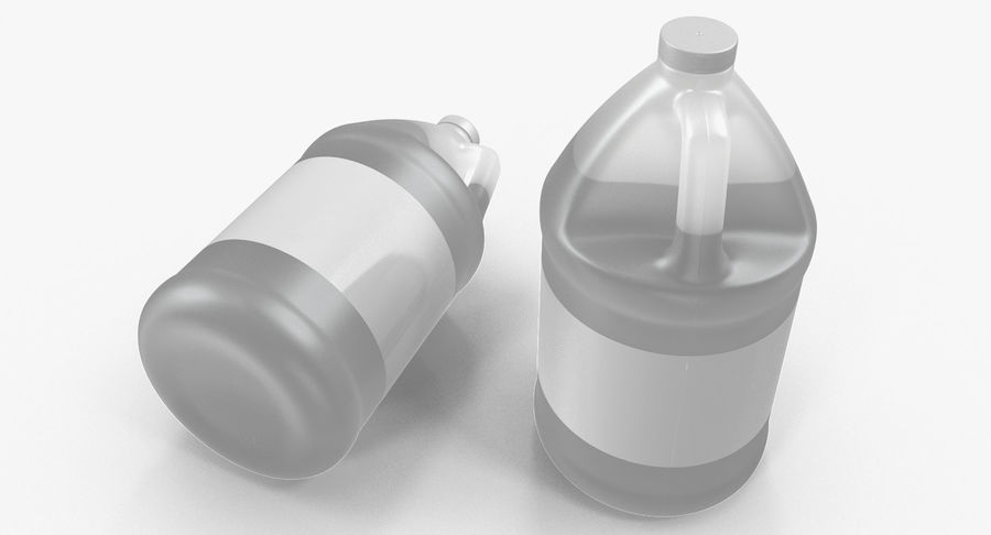 Plastic Jug With Lid Gallon royalty-free 3d model - Preview no. 4