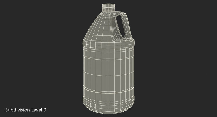 Plastic Jug With Lid Gallon royalty-free 3d model - Preview no. 10
