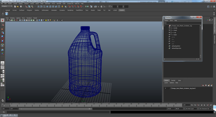 Plastic Jug With Lid Gallon royalty-free 3d model - Preview no. 15