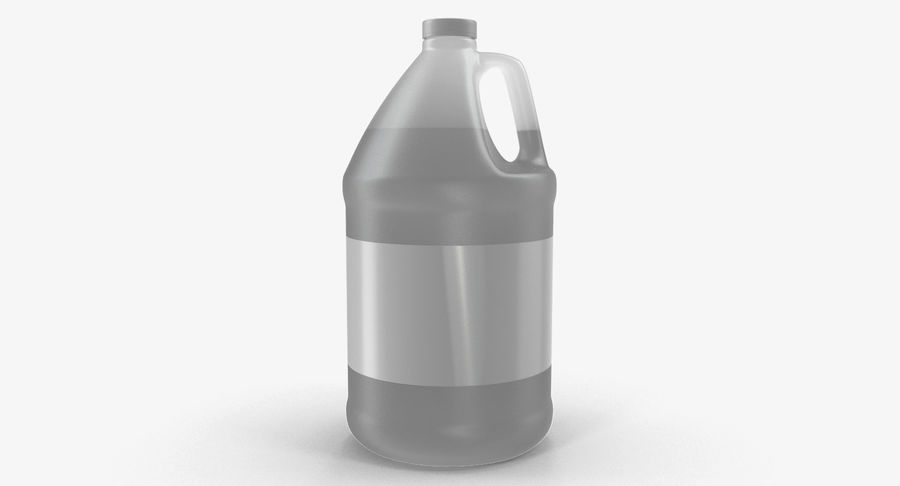 Plastic Jug With Lid Gallon royalty-free 3d model - Preview no. 2