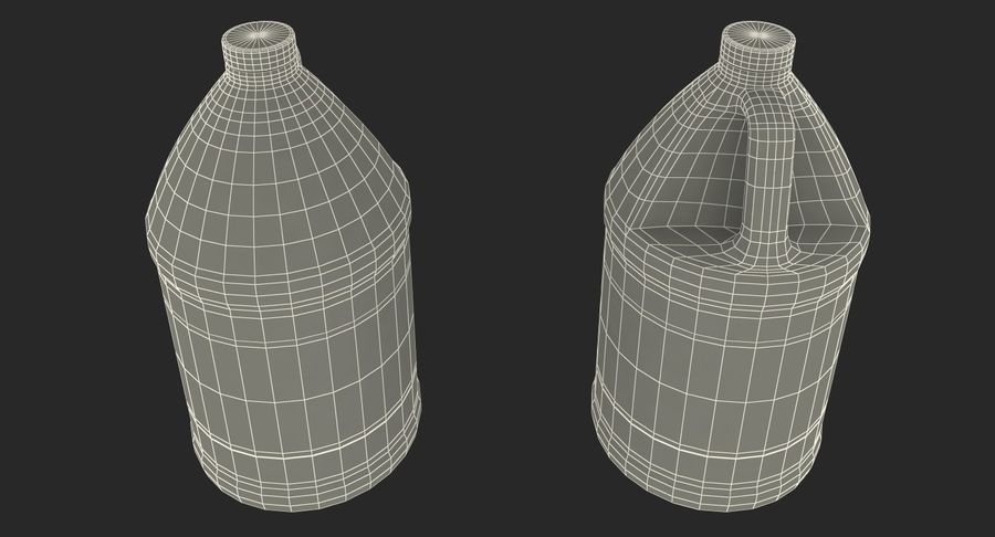 Plastic Jug With Lid Gallon royalty-free 3d model - Preview no. 18
