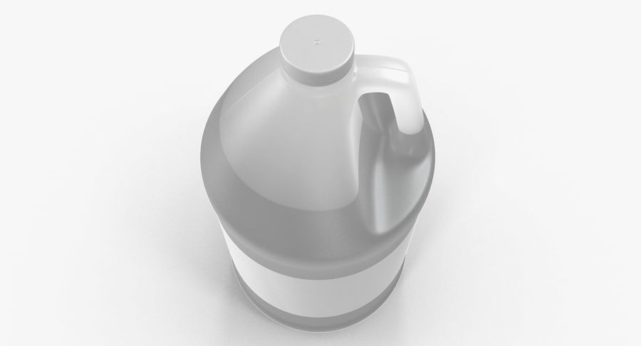 Plastic Jug With Lid Gallon royalty-free 3d model - Preview no. 8