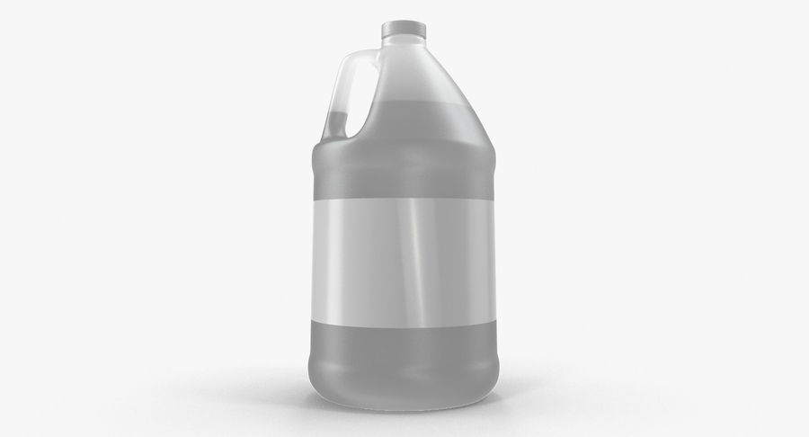 Plastic Jug With Lid Gallon royalty-free 3d model - Preview no. 7