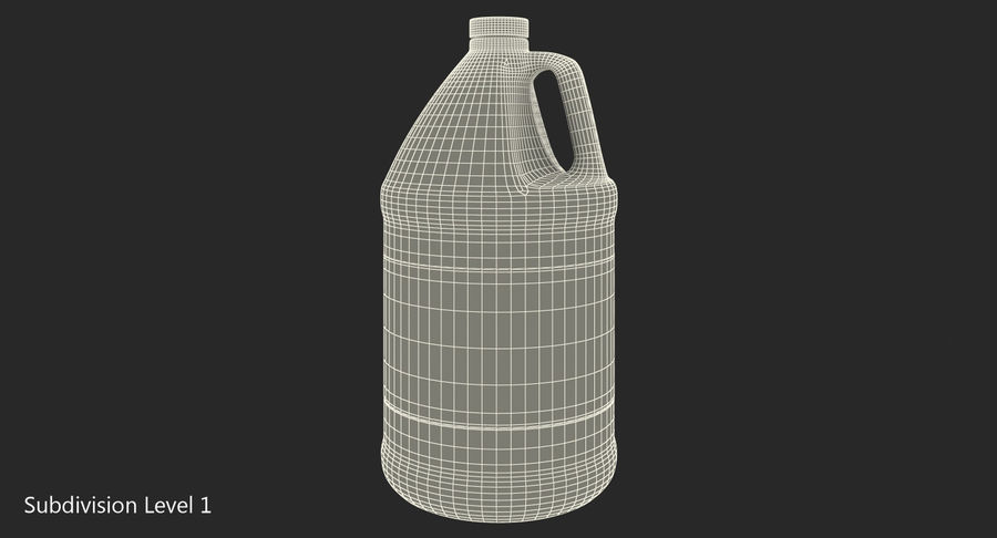 Plastic Jug With Lid Gallon royalty-free 3d model - Preview no. 11