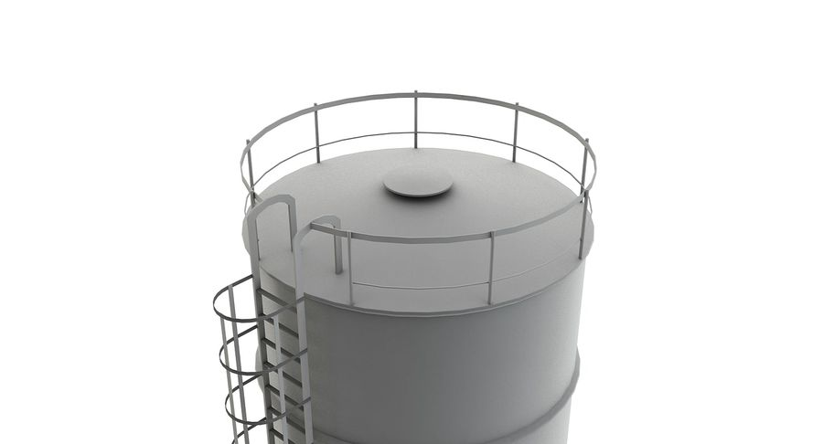 Silo De Cimento royalty-free 3d model - Preview no. 4