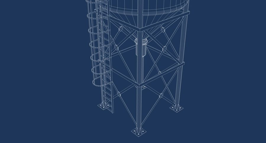 Silo De Cimento royalty-free 3d model - Preview no. 12