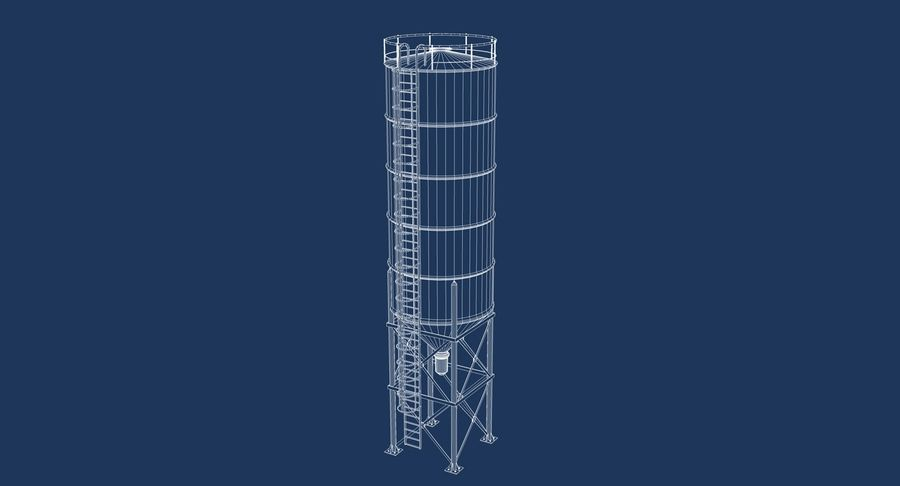 Silo De Cimento royalty-free 3d model - Preview no. 9