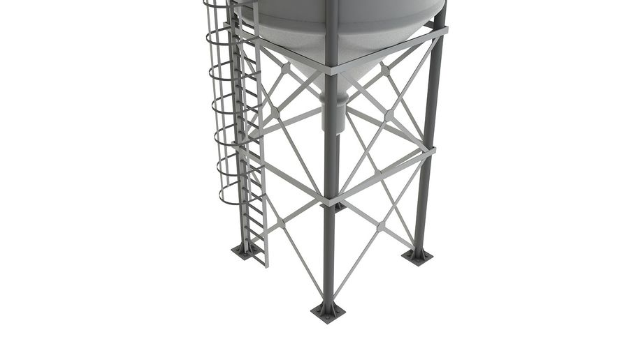 Silo De Cimento royalty-free 3d model - Preview no. 7