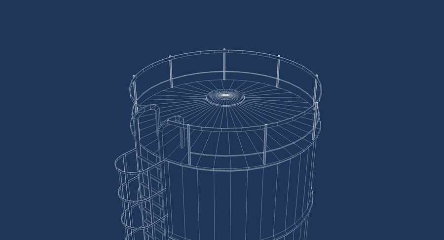 Silo De Cimento royalty-free 3d model - Preview no. 10