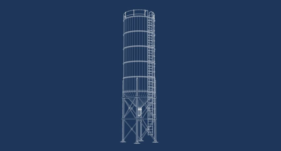 Silo De Cimento royalty-free 3d model - Preview no. 8