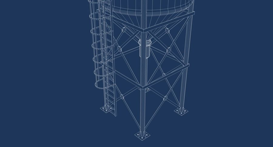 Silo De Cimento royalty-free 3d model - Preview no. 13