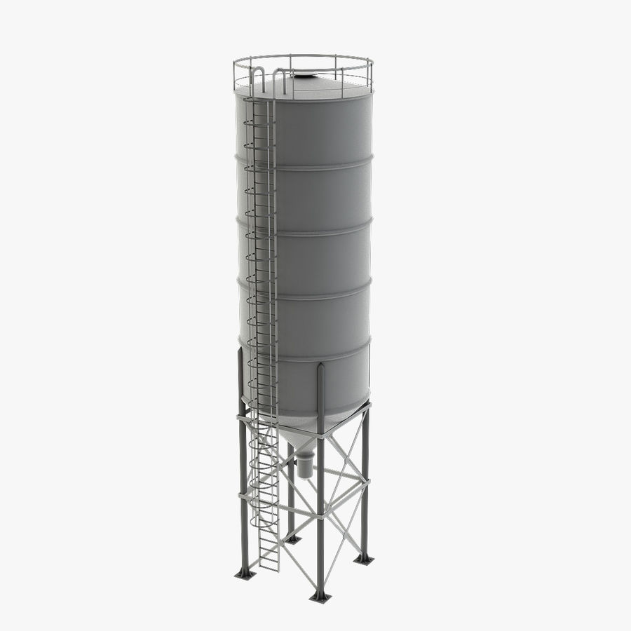 Silo De Cimento royalty-free 3d model - Preview no. 1
