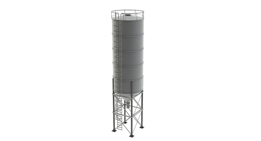 Silo De Cimento royalty-free 3d model - Preview no. 3