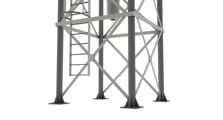 Silo De Cimento royalty-free 3d model - Preview no. 5