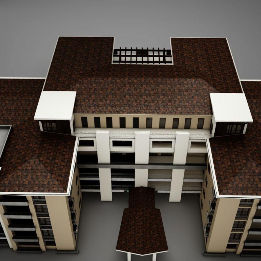 Nowoczesna tropikalna łacińska meksykańska plaża Tower Hotel Hacienda royalty-free 3d model - Preview no. 5