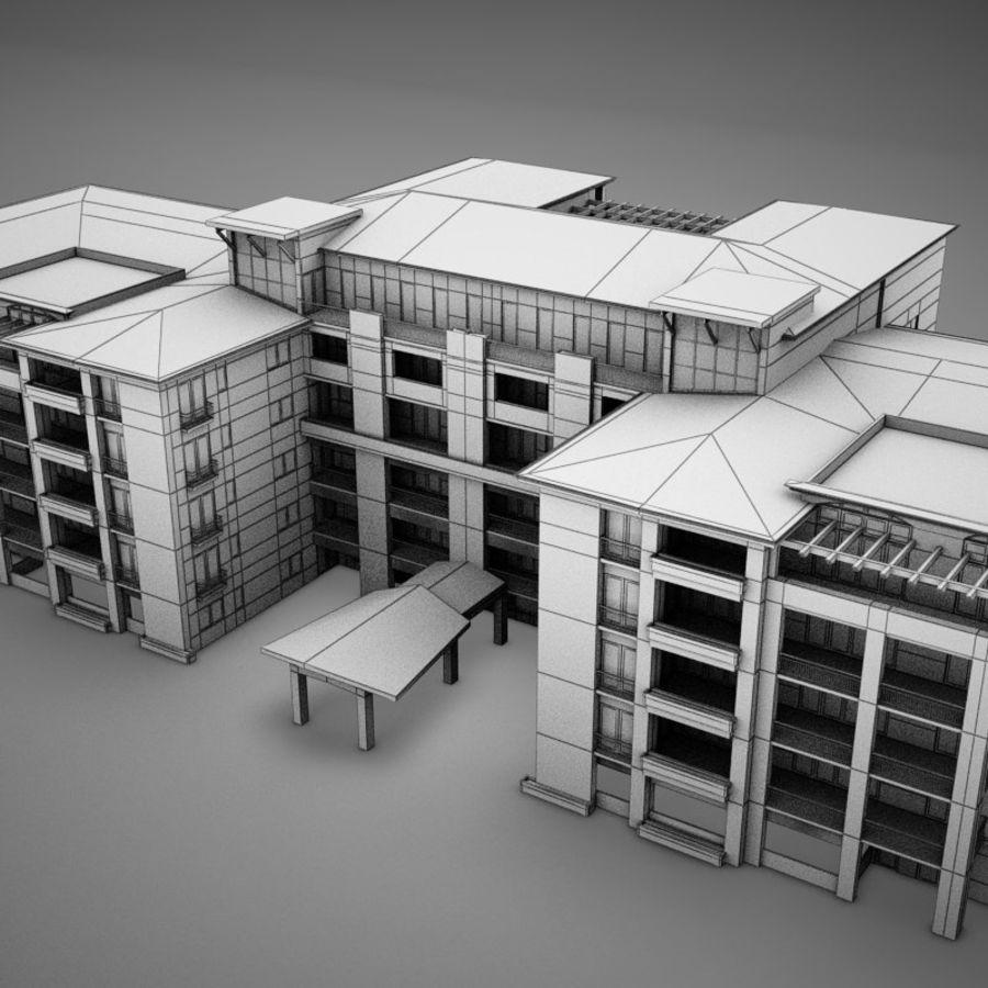 Nowoczesna tropikalna łacińska meksykańska plaża Tower Hotel Hacienda royalty-free 3d model - Preview no. 12