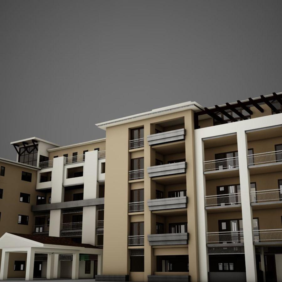 Nowoczesna tropikalna łacińska meksykańska plaża Tower Hotel Hacienda royalty-free 3d model - Preview no. 10
