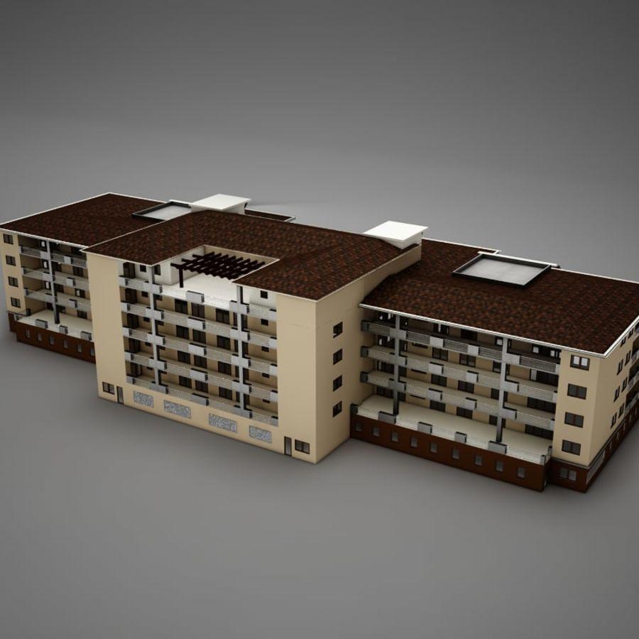 Nowoczesna tropikalna łacińska meksykańska plaża Tower Hotel Hacienda royalty-free 3d model - Preview no. 8