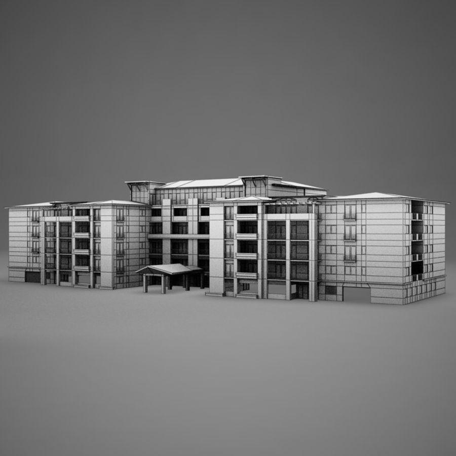 Nowoczesna tropikalna łacińska meksykańska plaża Tower Hotel Hacienda royalty-free 3d model - Preview no. 11