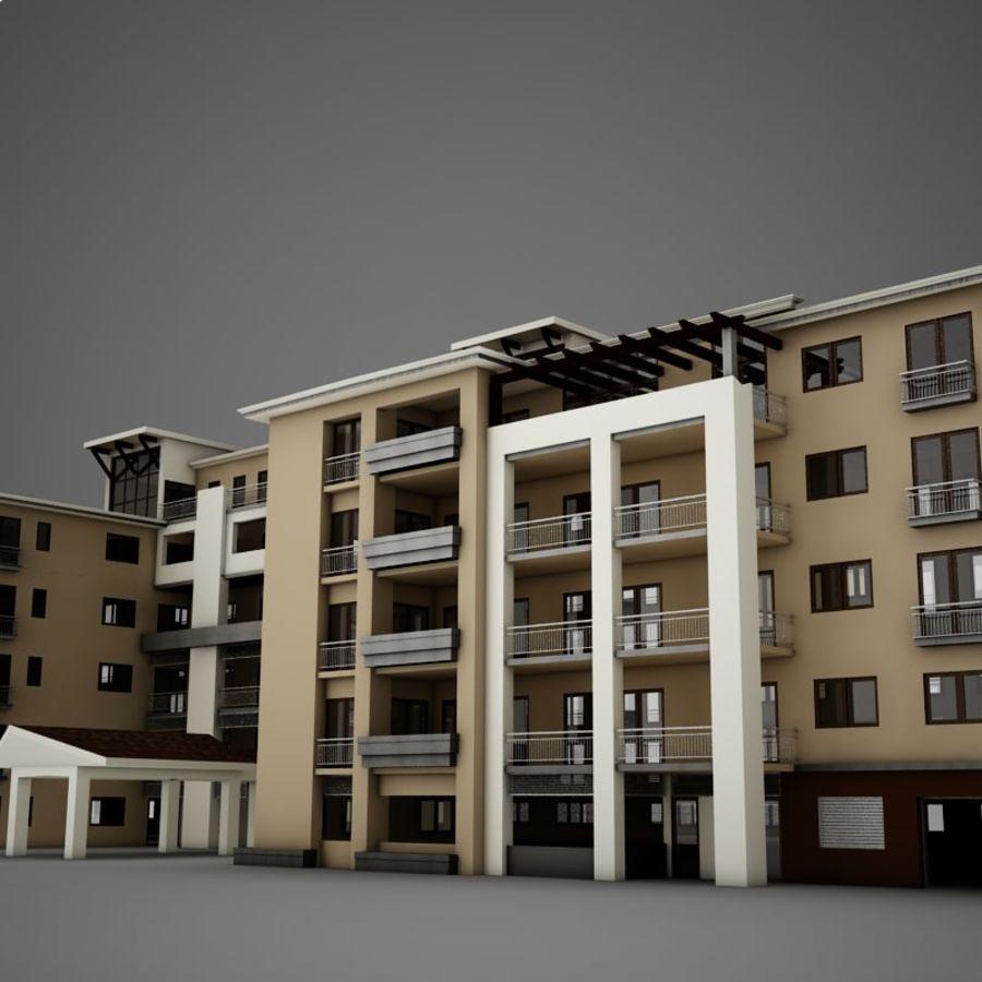 Nowoczesna tropikalna łacińska meksykańska plaża Tower Hotel Hacienda royalty-free 3d model - Preview no. 9