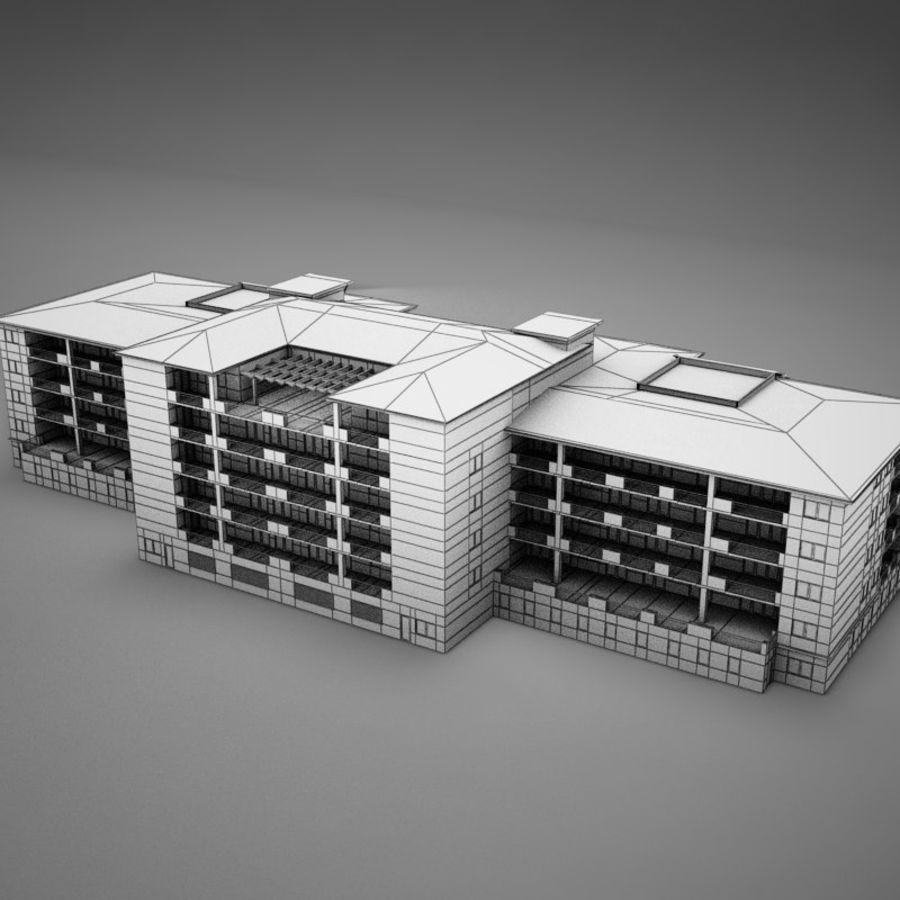Nowoczesna tropikalna łacińska meksykańska plaża Tower Hotel Hacienda royalty-free 3d model - Preview no. 18