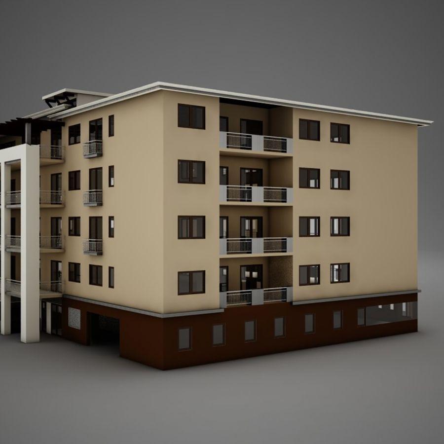 Nowoczesna tropikalna łacińska meksykańska plaża Tower Hotel Hacienda royalty-free 3d model - Preview no. 7